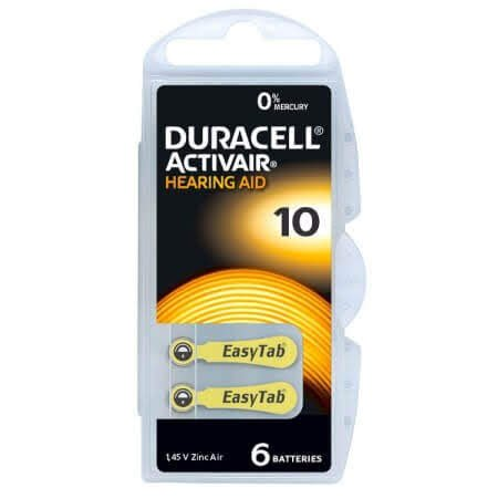 Duracell Activair MF Size 10 Hearing Aid Batteries