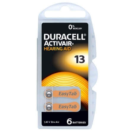 Duracell Activair MF Size 13 Hearing Aid Batteries