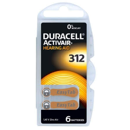 Duracell Activair MF Size 312 Hearing Aid Batteries