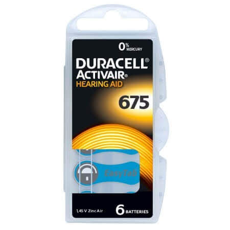 Duracell Activair MF Size 675 Hearing Aid Batteries