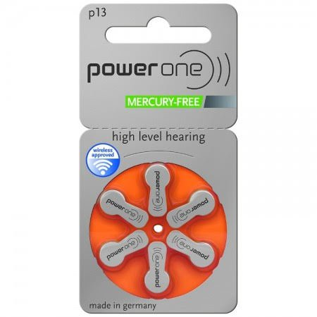 Power One MF Size 13 Hearing Aid Batteries