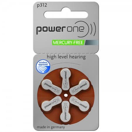 Power One MF Size 312 Hearing Aid Batteries