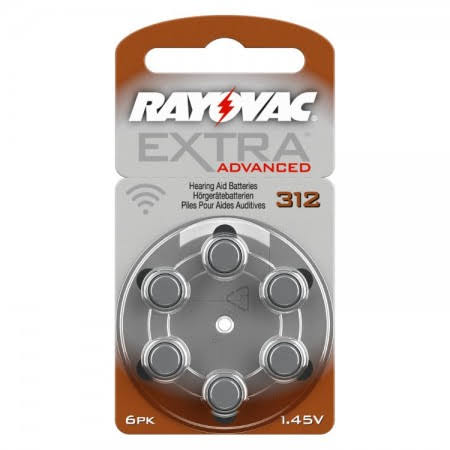 Rayovac Extra MF (Brown / Size 312) Hearing Aid Batteries