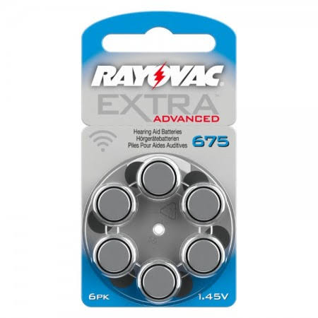 Rayovac Extra (Blue / Size 675) Hearing Aid Batteries