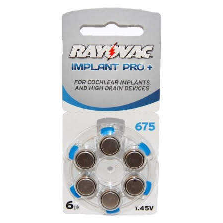 Rayovac Implant Pro + Hearing Aid Batteries