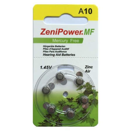 Zenipower Size 10 MF Hearing Aid Batteries