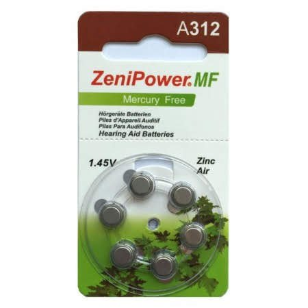 Zenipower Size 312 MF Hearing Aid Batteries