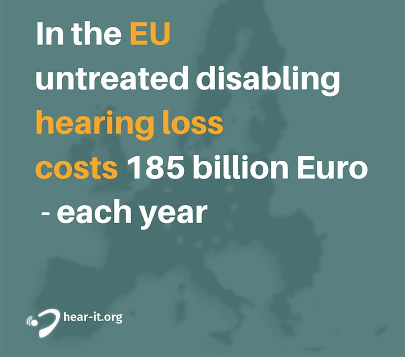 Costs of untreated hearing loss in the EU