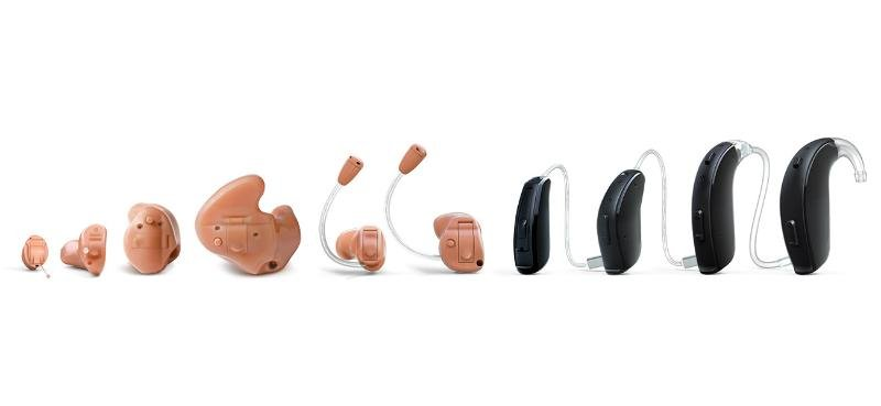 Different hearing aid types
