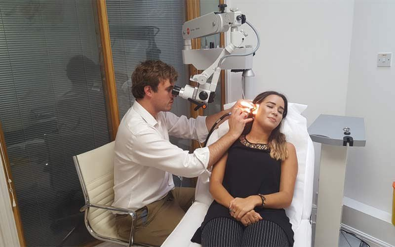 Micro-suction earwax removal London