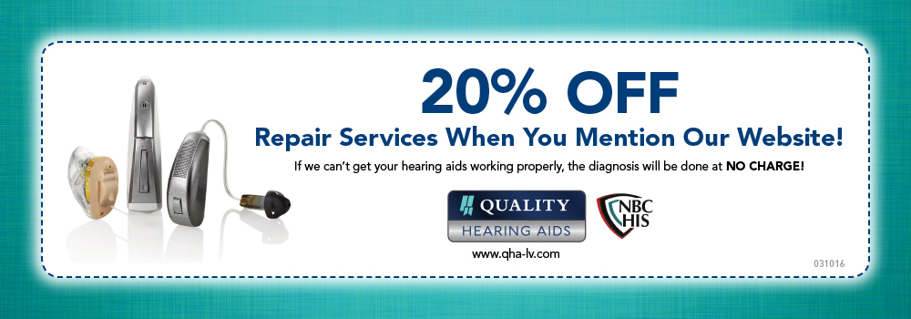 Hearing Aid repair coupon Las Vegas