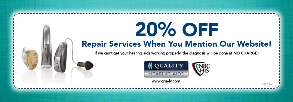 Hearing Aid Repair Coupon Offer
