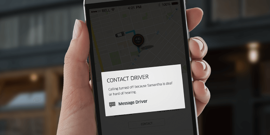 Taxi-cab company Uber make changes to support their deaf and