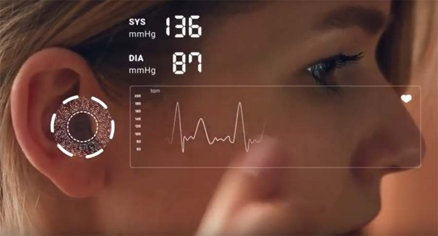 Valencell ear level blood pressure sensor