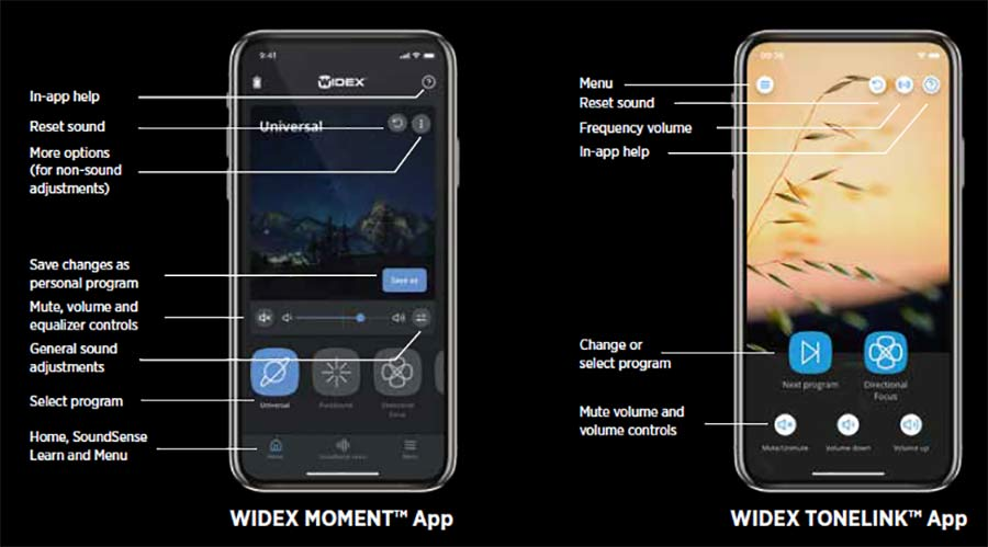 Widex apps